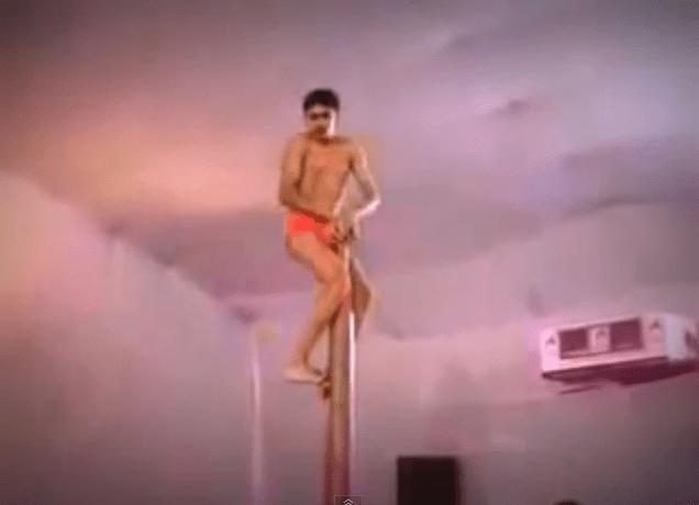 Pole dance versão macho