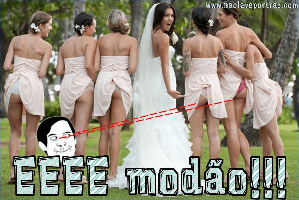 Mostrar o bumbum em casamentos é a nova moda nos EUA. Confira as fotos!
