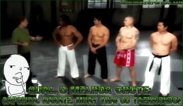 Qual o Melhor Chute: Capoeira, Karate, Muay thai ou Taekwondo?