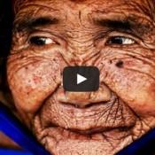 Usaram o Photoshop em uma mulher de 100 anos, e o resultado foi impressionante