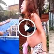 Vizinha joga água fervendo em adolescente gravida, por causa de uma cerca