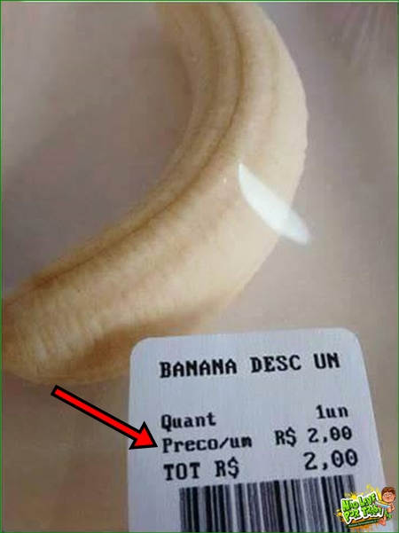 venda de banana descascada