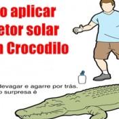 Tutorial do dia: Como aplicar protetor solar em umCrocodilo