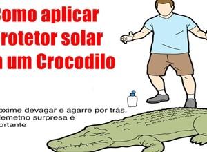 como-aplicar-protetor-solar-em-um-crocodilo face