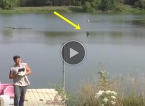 pescando com drone