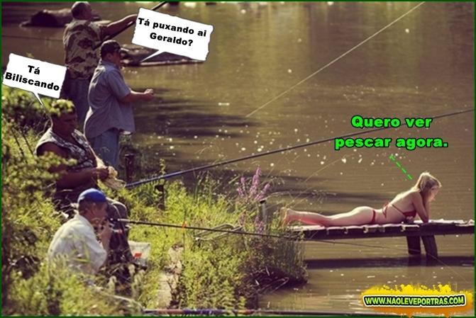 tentando atrapalhar a pescaria