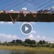 150 Pessoas pulando da ponte ao mesmo tempo em Hortolândia