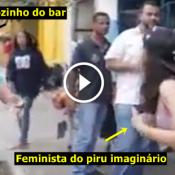 Eis que as feministas resolveram bater boca com os tiozinhos bêbado do boteco