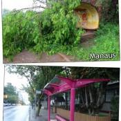 A diferença entre o ponto de ônibus de alguns municípios
