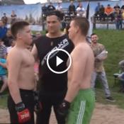 Polêmico evento de MMA coloca Menino de 15 anos pra lutar contra Adulto de 32 anos