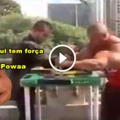 """O dia que Arlindo Montanha o """"Popeye Brasileiro"""", desafiou as pessoas para uma queda de braço"""
