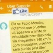 Motorista do Uber a 140 Km/h por um bom motivo!