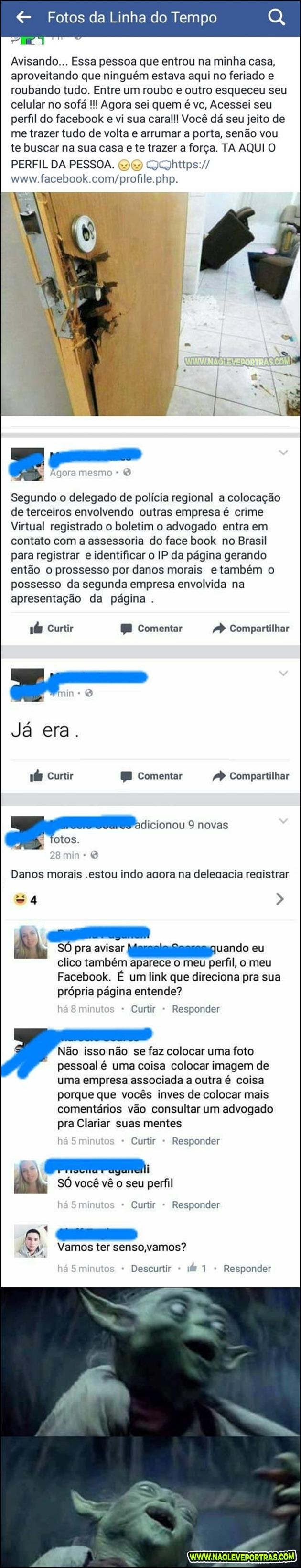 treta no facebook