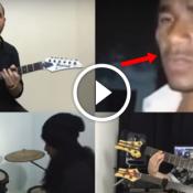 Guitarra humana ganha versão com guitarra de verdade