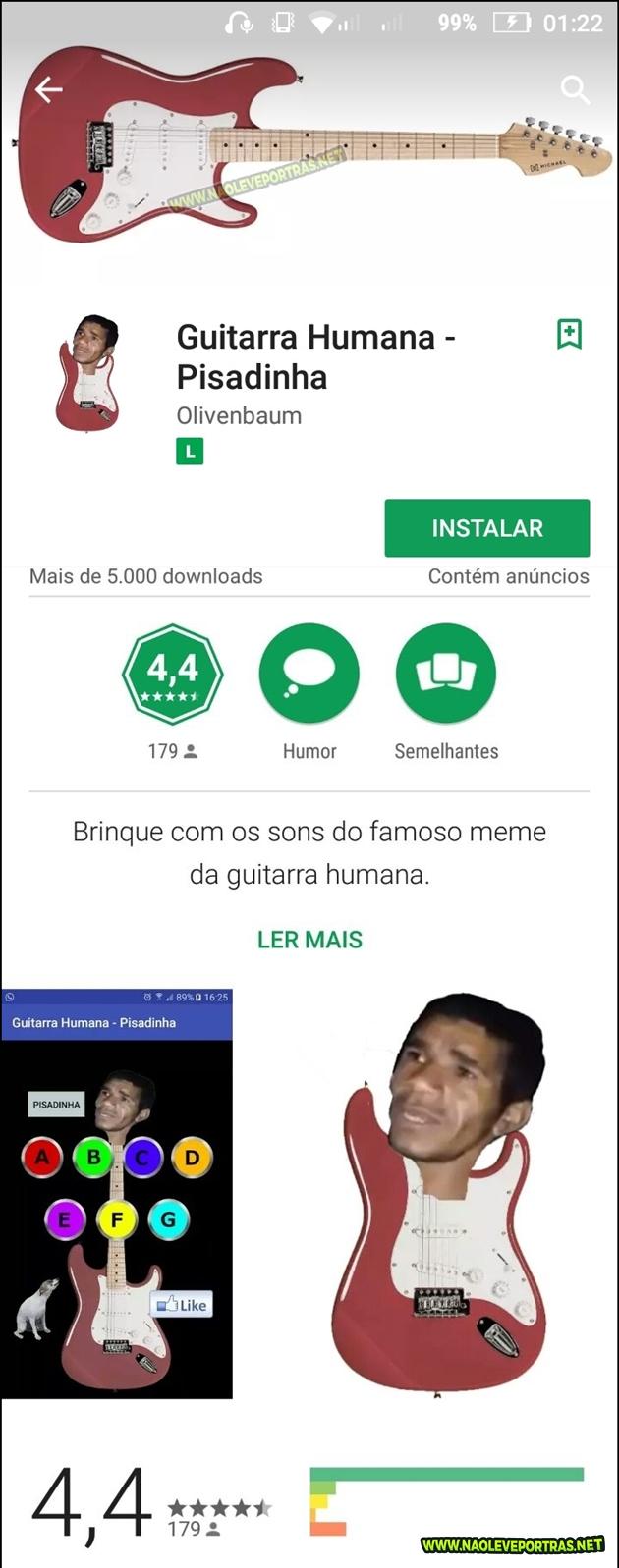 aplicativo guitarra humana