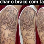 Como fechar o braço com uma tatoo