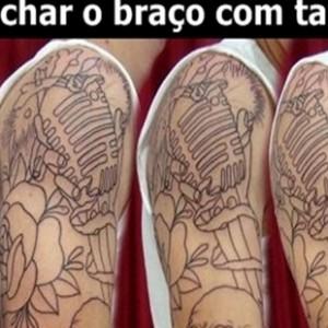 como fechar o braço com tatuagem