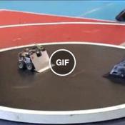 A luta de robô mais rápida que você verá hoje
