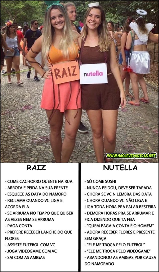 Namorada-Raiz-x-Garota-Nutella