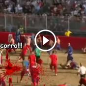 O jogo de futebol mais violento do mundo!
