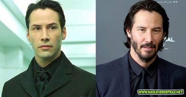 O antes e o depois da galera do filme Matrix