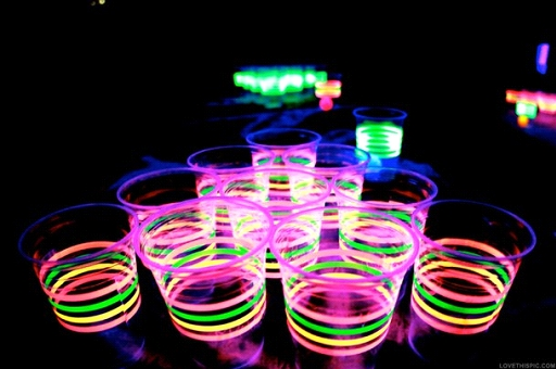 copos fluorescente festa