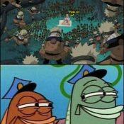 Eis que o Naruto encontra um adversário que suporta vários ataques ao mesmo tempo