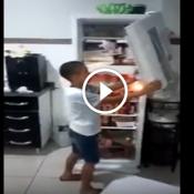 O dia que a geladeira do vovô foi destruída por uma criança esfomeada por Danone