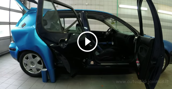 Este carro sendo envelopado é o vídeo mais gratificante que você verá hoje!