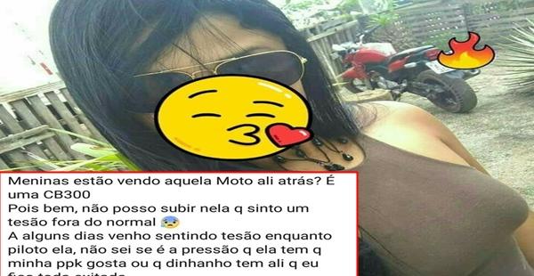 O caso da moça que gosta da moto, mas não pode subir nela!