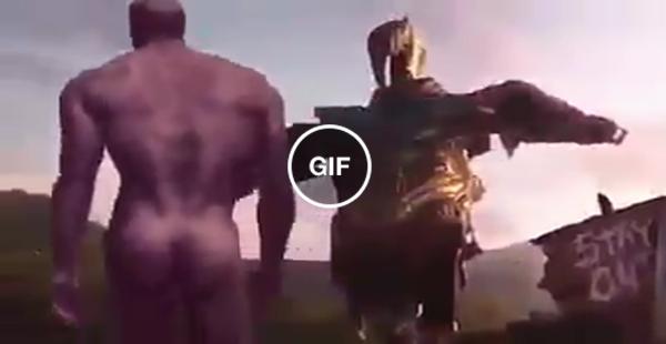 Eis o que o Thanos ficou fazendo no planeta Jardim, após conseguir reunir todas as jóias e cumprir seu objetivo