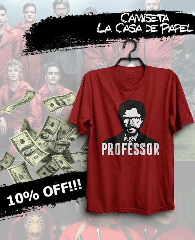 Camiseta Professor LA CASA DE PAPEL