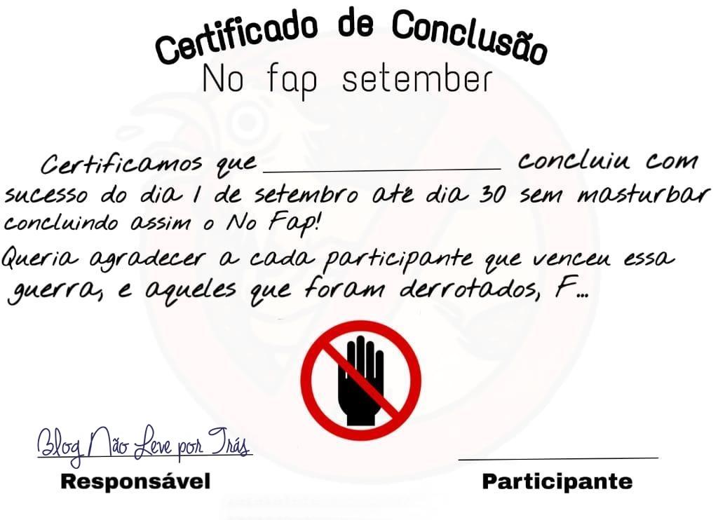 Certificado no fap Setembro