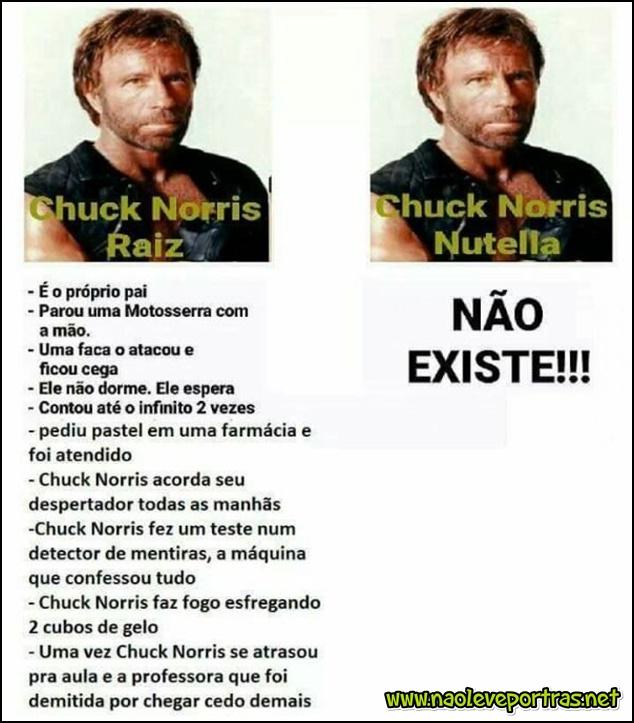 Chuck Norris raiz X nutella