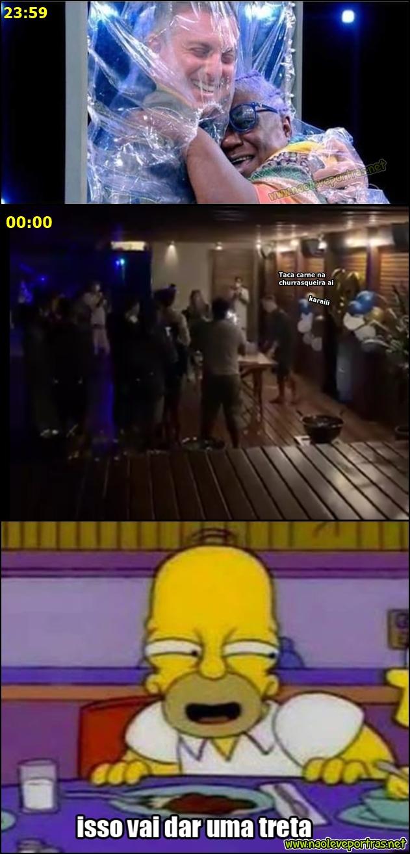 Na TV vs em casa